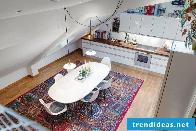 modern modular kitchen in a small room