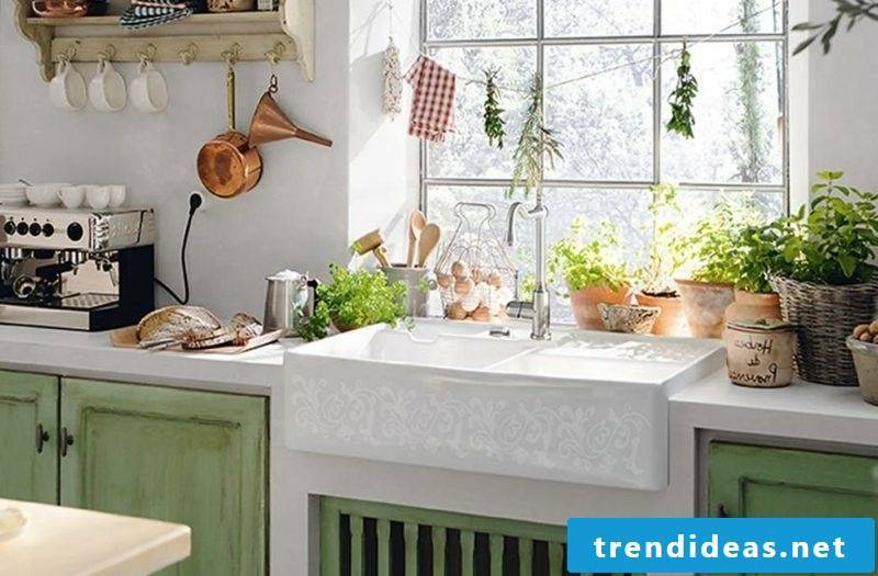 Modular kitchen wood country style