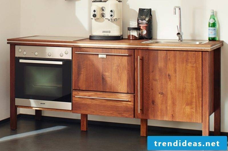 modular kitchen in solid wood