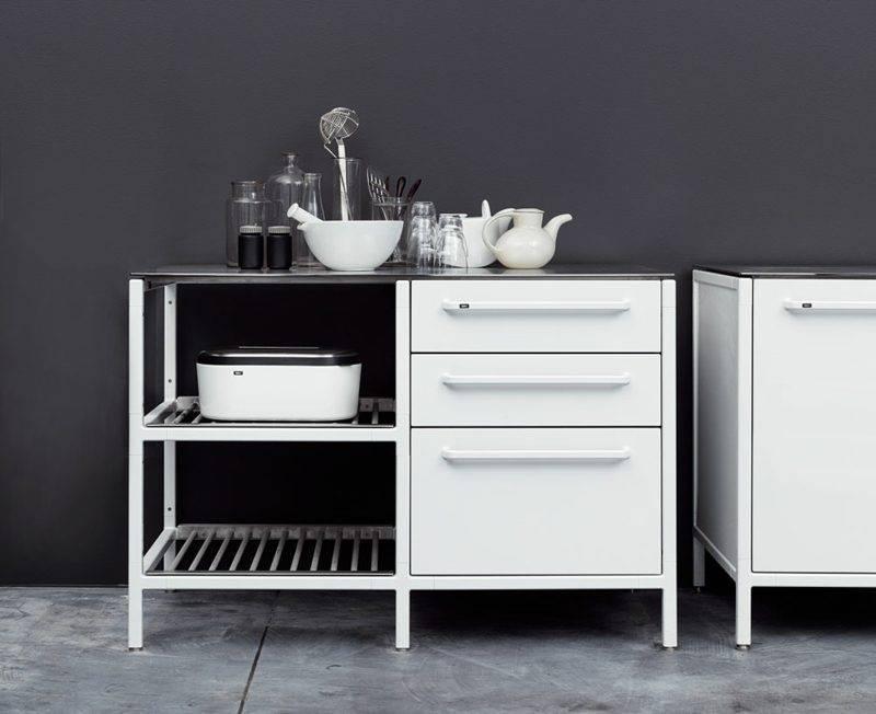 Kitchen module in white elegant design