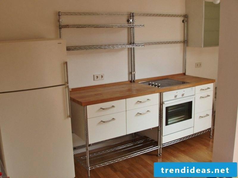 modular kitchen retro look