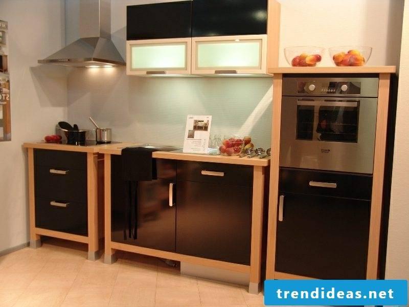 elegant modular kitchen black