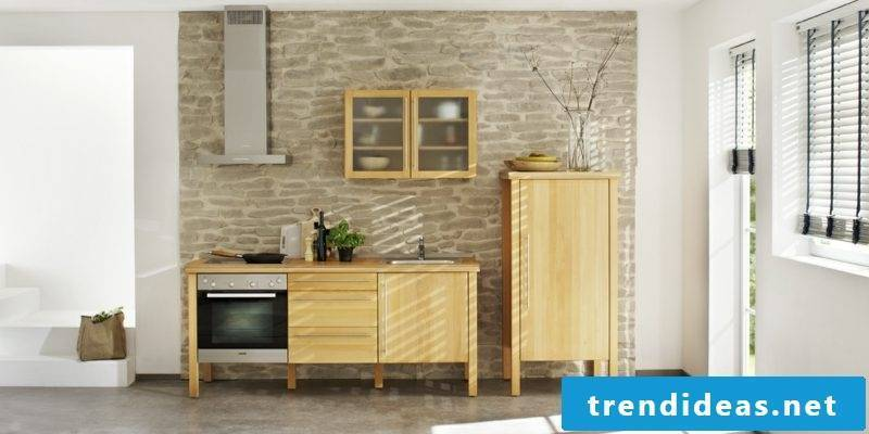 Modular kitchen in solid wood practical design