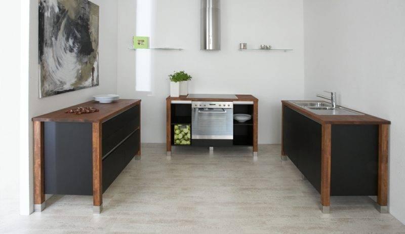 modern modular kitchen with three elements