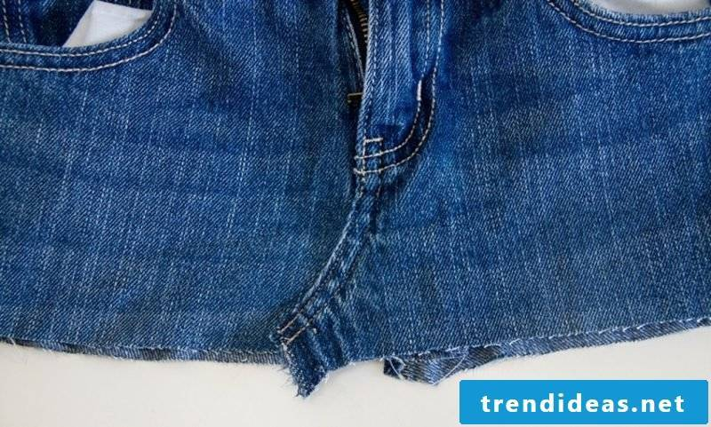 what can you do from old jeans skirt instruction