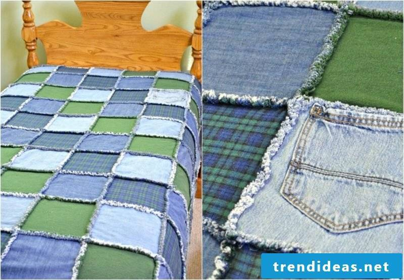 what can you make out of old jeans patchwork duvet