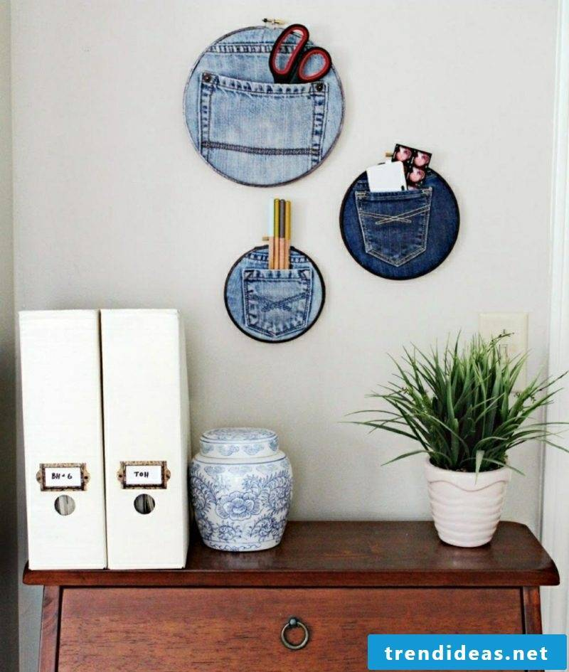 what can you do from old jeans decorations apartment