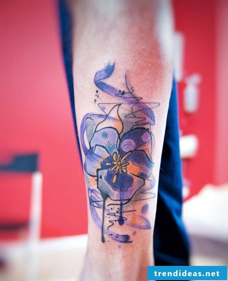 Watercolor tattoos ideas for women