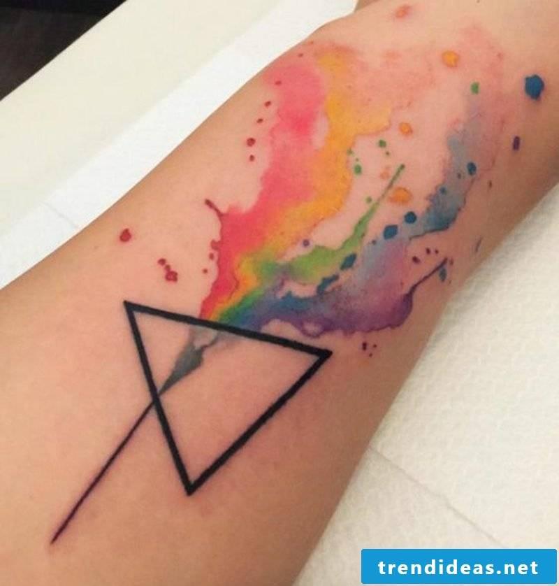 Watercolor tattoo prism original design