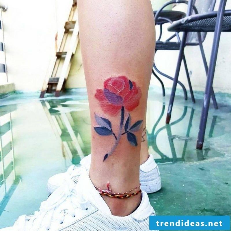 Modern watercolor tattoos design ideas for women