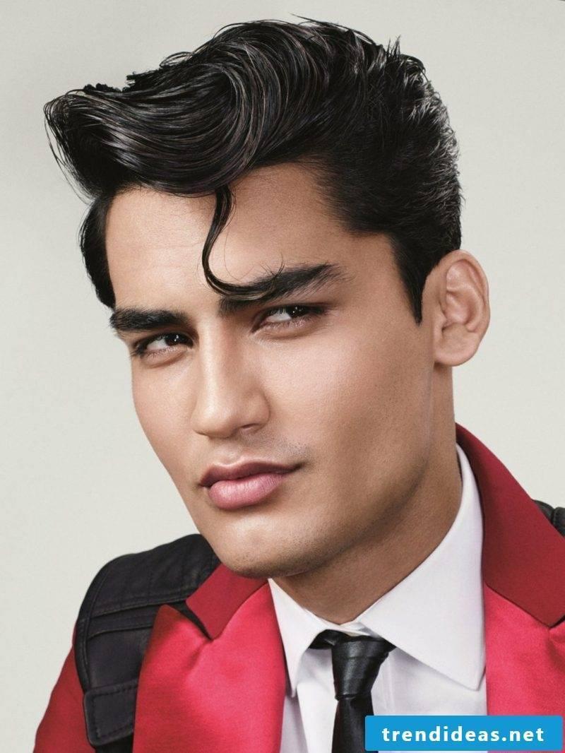 medium length hairstyles men Great Elvis look