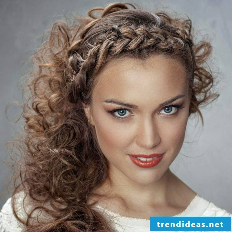 Hair braids French braid