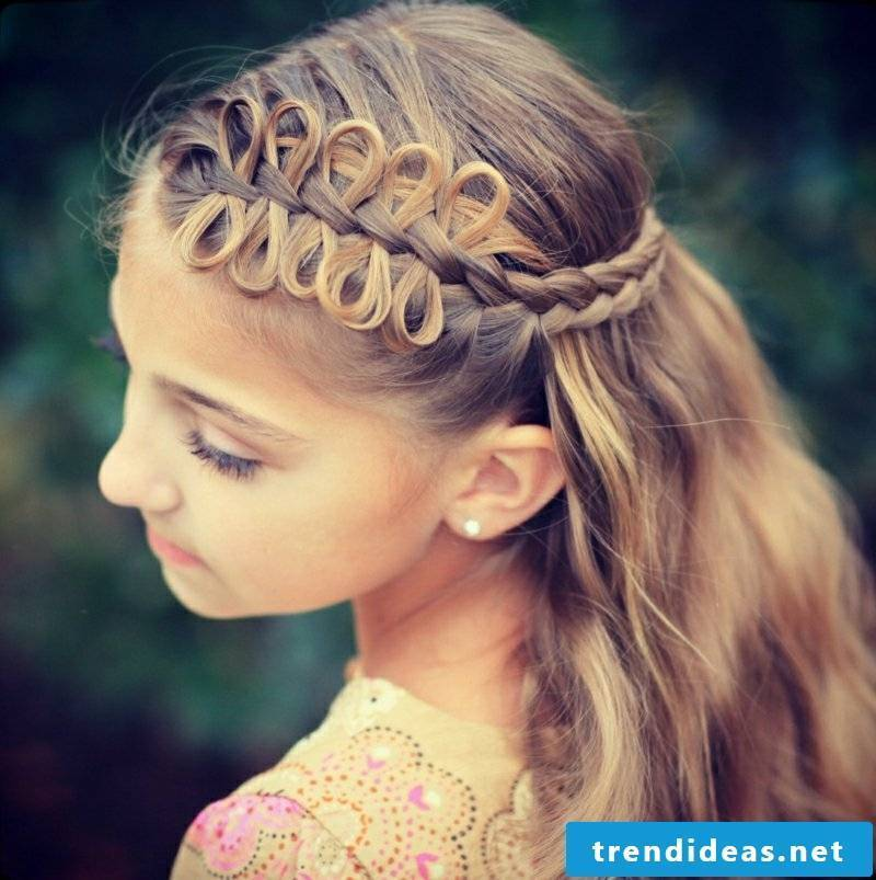 Braids semi-open fancy braid
