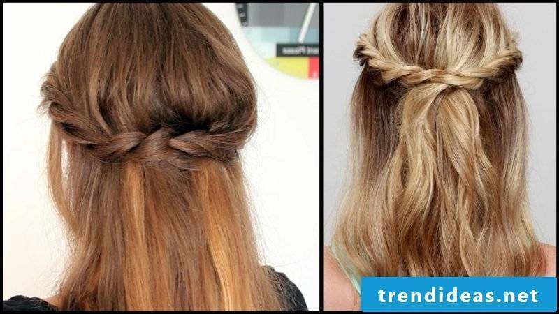 Braided hair long hair