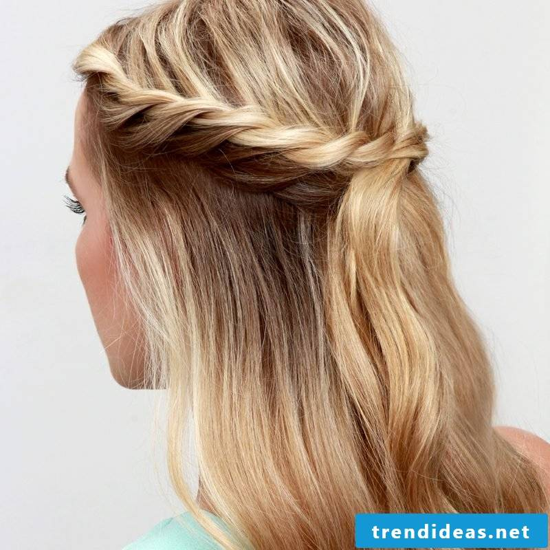 Braid plait romantic hairstyles