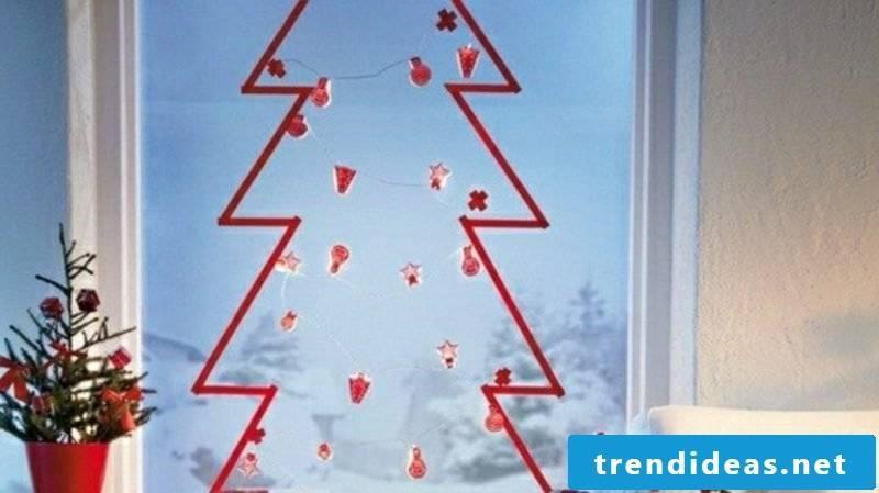 Christmas decoration window Christmas tree