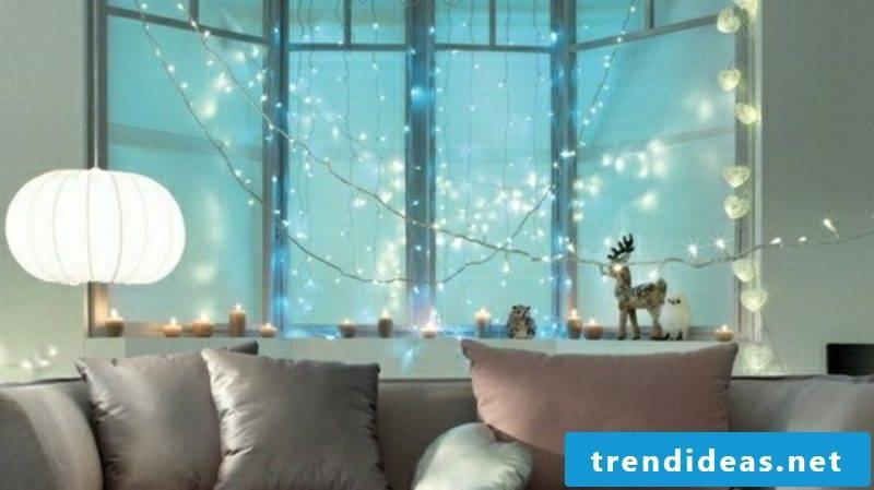 Christmas decoration window fairy lights