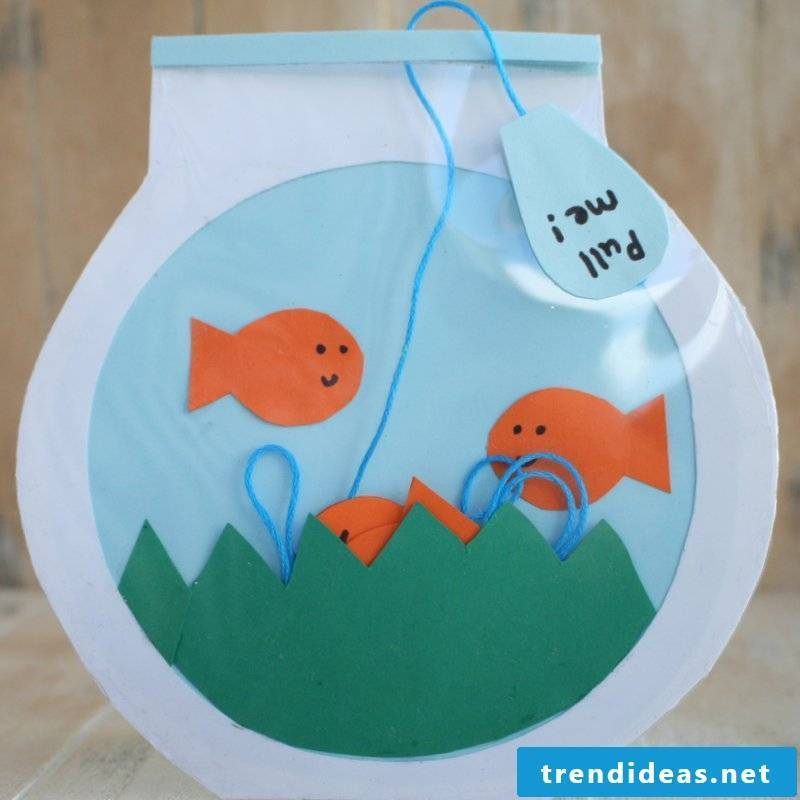 Crafting ideas for small children: Happy Father's Day with a homemade card