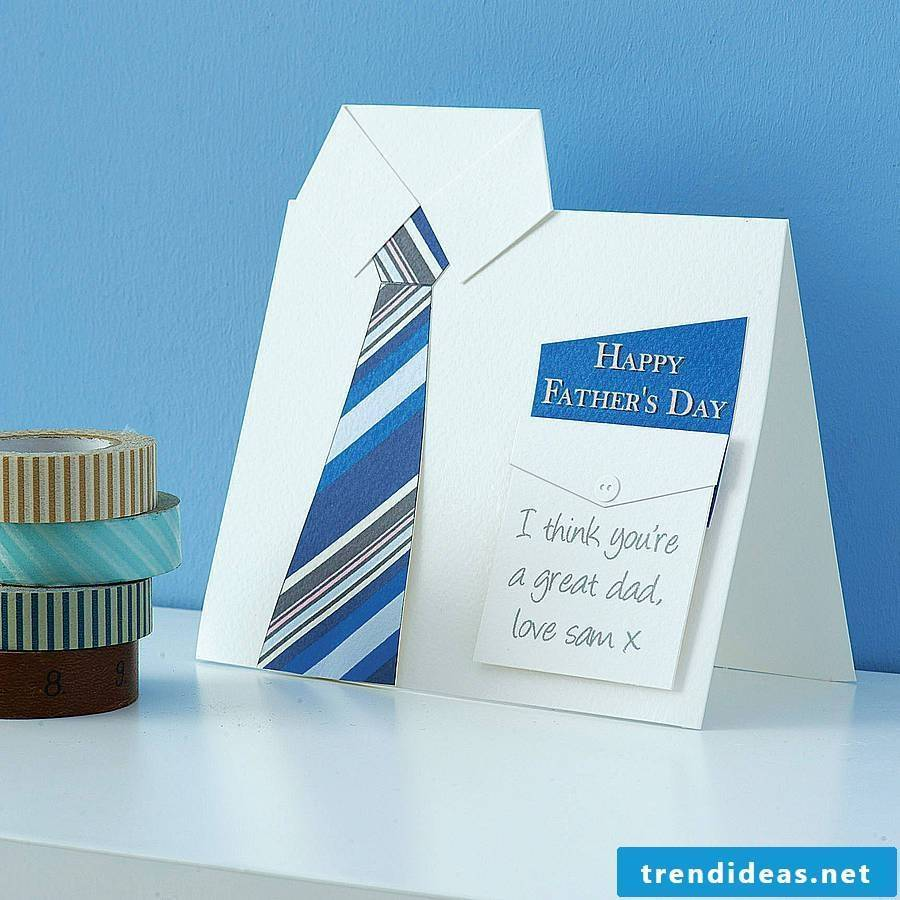 Purchased or tinkered Father's Day card is better suited to wish my father all the best for Father's Day