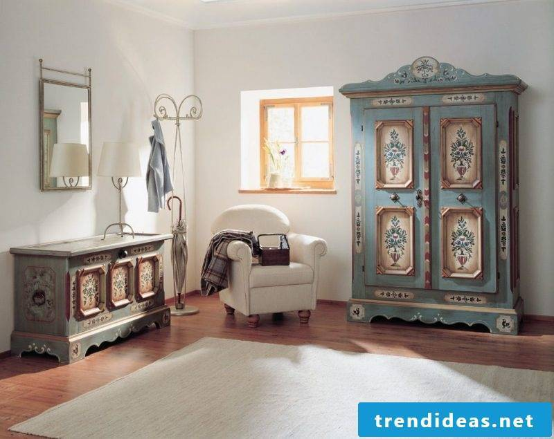 Antique furniture cabinets with woodworm