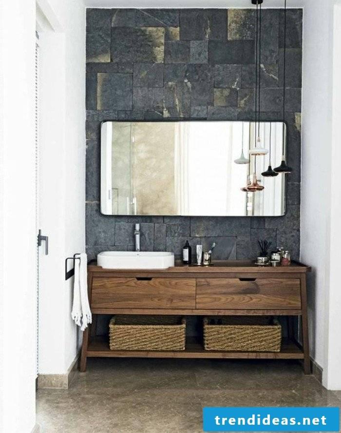 wood vanity top rustic