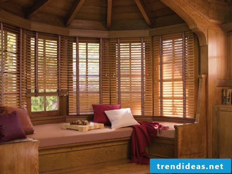 Hang wooden blinds to show style
