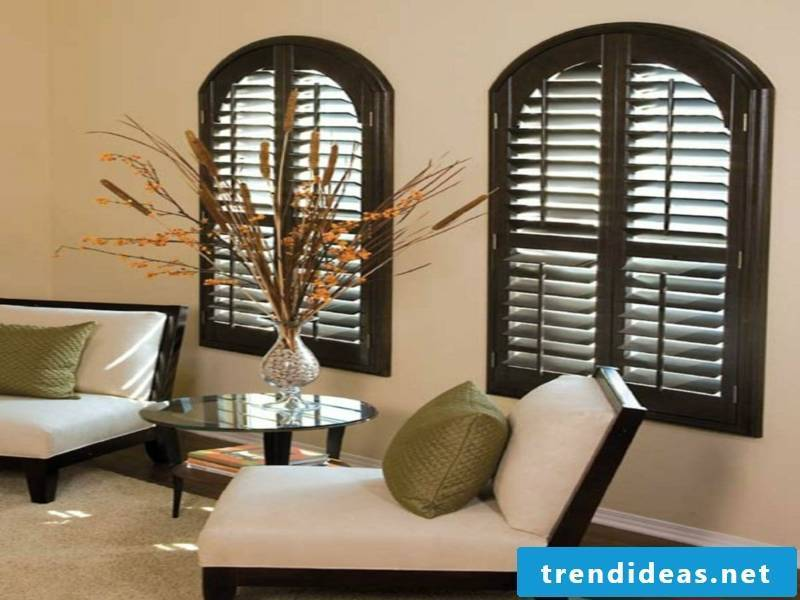 Wooden blinds in the living room