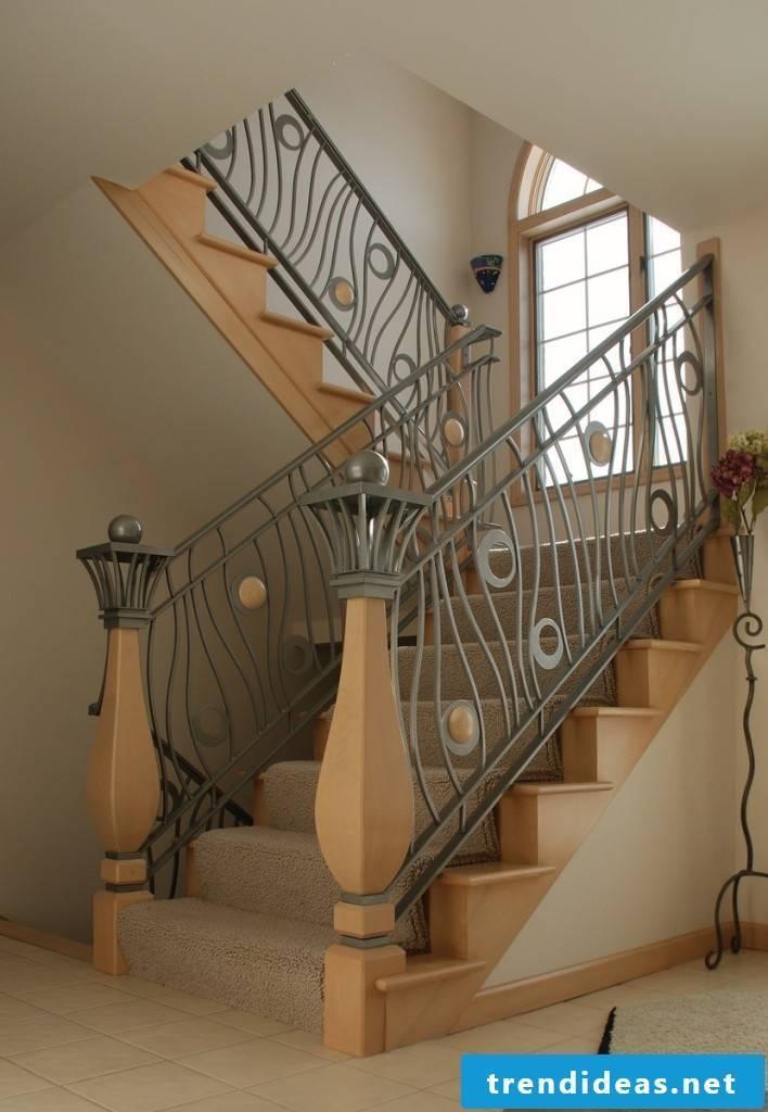 interesting wooden railings