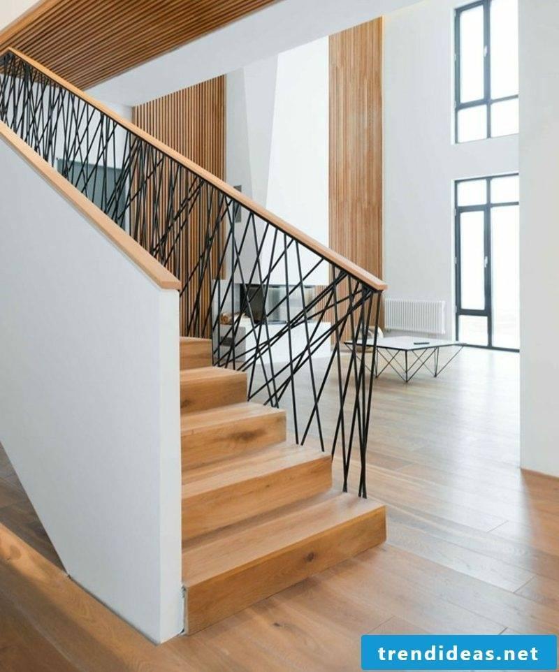wooden stairway interior modern scandinavian