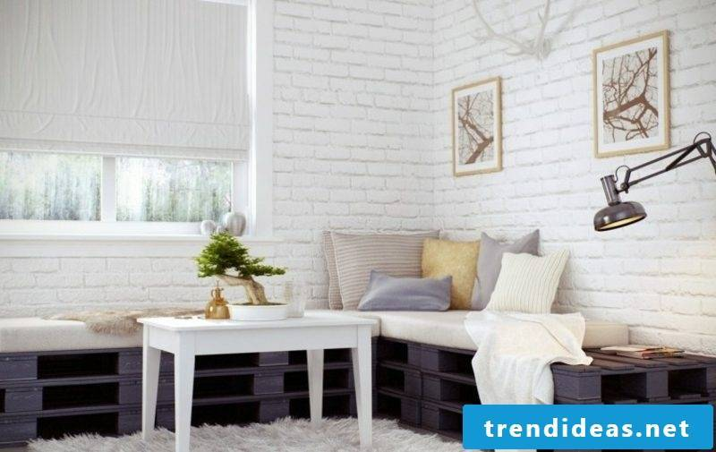 Pallet sofa living room stylish look