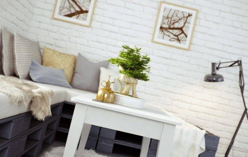 Pallet sofa built by itself painted gorgeous look