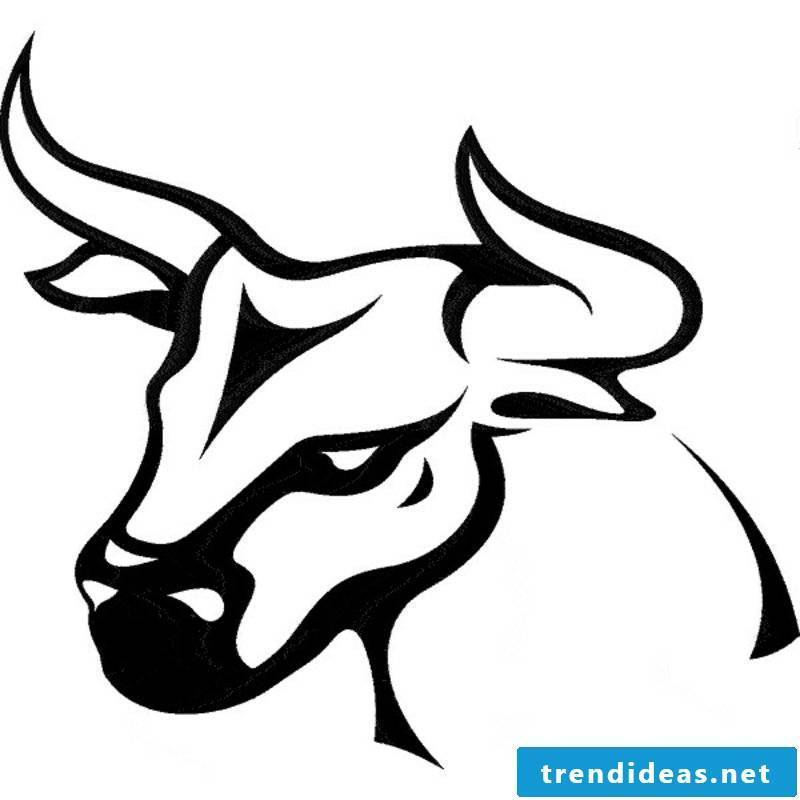 zodiac tattoo-bull head-001
