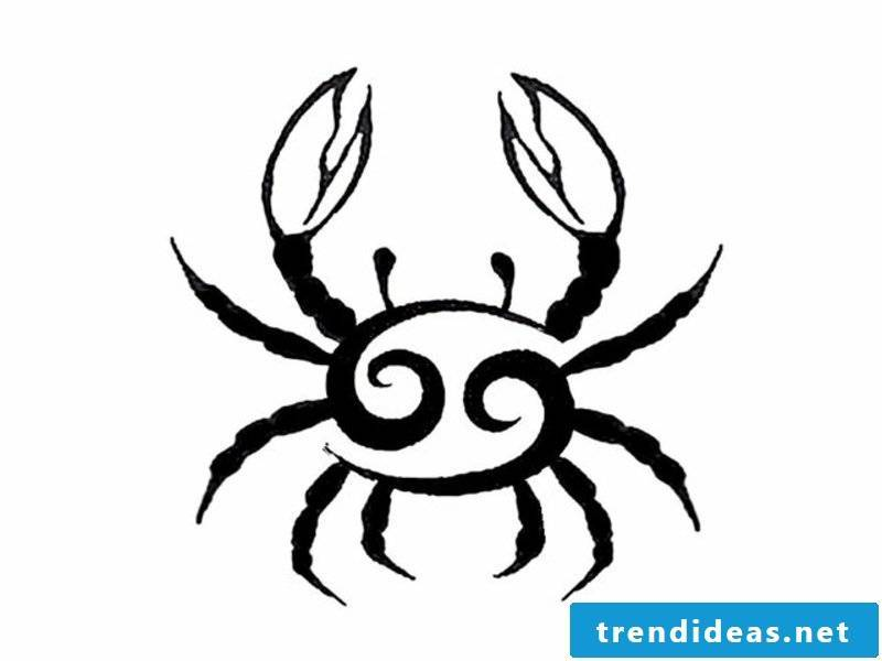 zodiac tattoo-Black-Cancer-Zodiac tattoo design Idea