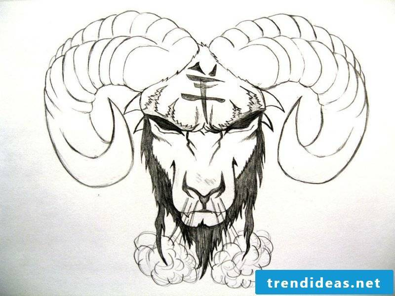 zodiac tattoo-black Zodiac Aries tattoo design